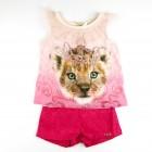 Conjunto Blusa Malha Flame e Shorts Jacquard Infanti - 034926