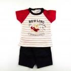 Conjunto Body e Bermuda Baby Playwear Boliche Piu Piu - 035061