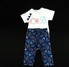 Conjunto Body e Bermuda Masc Dino Baby Fashion - 035258