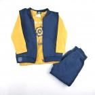 Conjunto Camiseta com Colete e Calça Arte Menor - 036273