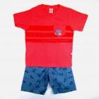 Conjunto Camiseta e Bermuda Estampa de Bicicleta Brandili - 035790/ 035791
