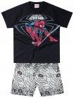 Conjunto camiseta e bermuda Homem Aranha - Brandili - 040570
