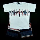Conjunto Camiseta Pranchas e Bermuda Vrasalon - 034019