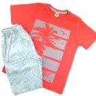 Conjunto camiseta estampada e bermuda - Have Fun - 039572