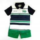 Conjunto Camiseta Polo e Bermuda Turma da Malha - 033793