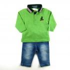Conjunto Polo Det. Gola e Calça Jeans Gira Baby - 028127