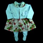 Conjunto Salopete Bordado Rosas Bee Baby - 038964