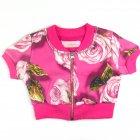 Jaqueta manga curta com estampa de rosas - 040245 - Pituchinhus