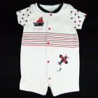 Macaquinho Estampa Barco Baby Fashion - 035253