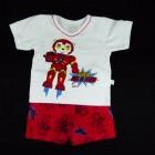 Pijama Curto Malha Biel de Ferro Cara de Criança - 034096