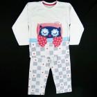Pijama Longo Malha Coruja Cara de Criança - 030979
