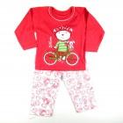 Pijama Longo Malha Luli Bike Cara de Criança - 030940