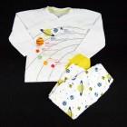 Pijama Longo Malha Sistema Solar Cara de Criança - 034097