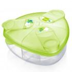 Pote para armazenagem de fórmula infantil e/ou leite em pó com 3 compartimentos - Mam - 027389