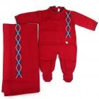 Saída de Maternidade Macacão e Manta Escocês Petit Mouton - 038236