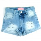Shorts Jeans com strass - 040267 - Pituchinhus