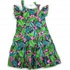 Vestido com estampa de folhagem e flores - Anime - 040639