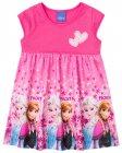 Vestido com estampa Frozen Elsa e Anna - Brandili - 040615