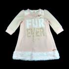 Vestido de Malha com Pelo Animê Petite - 036139