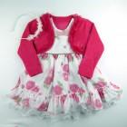 Vestido Estampado com Strass e Bolero Cattai - 038977