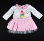 Vestido ml Pregas e Tule Cupcake Gira Baby - 033161