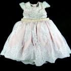 Vestido Renda com Cinto de Pérolas Laços de Menina - 038566