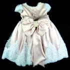 Vestido Renda e Pérolas na Saia Laços de Menina - 038569