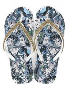 Chinelo Color Shoes Pedrarias Estampa