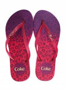 Chinelo Esportivo Coca Cola Leopard