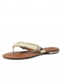 Chinelo Griffe Shoes Rasteira Pérolas | Vivere Store