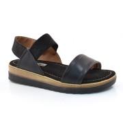 Sandália Flatform Preta Comfortflex