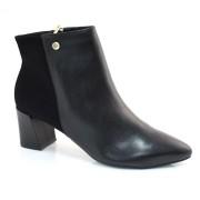Ankle Boots Preto De Salto Baixo Suzzara