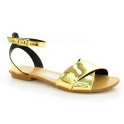Sandália Rasteira Lacolly Dourada Ou Prata