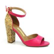 Sandália De Salto Alto Pink Ou Preto Via Marte