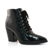 Ankle Boots Preto De Couro Bottero