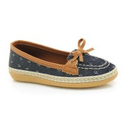 Sapato Docksider Azul Infantil Lacolly