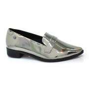 Sapato Mocassim Metalizado Feminino Quiz