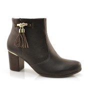 Ankle Boots Comfortflex Marrom Ou Preto