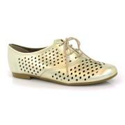 Sapato Oxford Feminino Metalizado Beira Rio