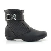 Ankle Boots De Salto Baixo Laserena Preto Ou Marrom