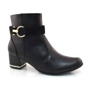 Ankle Boots Preto Comfortflex