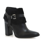 Ankle Boots Em Couro Suzzara Preta