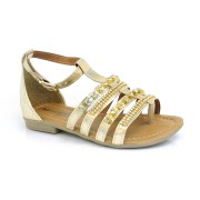 Sandália Infantil Menina Fashion Dourada Ou Nude