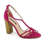 Sandália De Salto Alto Feminina Pink Ou Creme Suzzara
