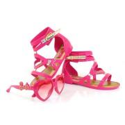 Sand�lia Infantil Barbie Glamour + Brinde