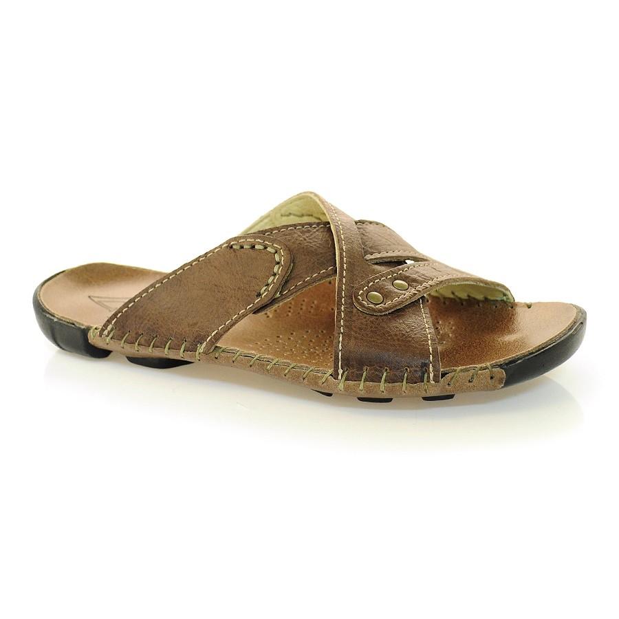 Chinelos De Couro ~ Chinelo De Couro Andacco Mali 7280 WOOD Vizzent Calçados Compre online Pague em 10X